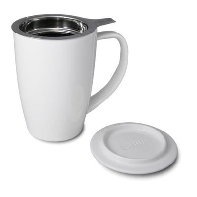 Ceramic Tea Cup with Infuser and Lid - Good Life Tea