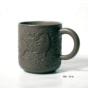 Dragon Relief Tea Mug - Chinese Yixing Clay