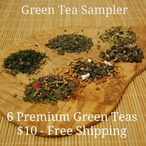 Six Pack Green Tea Sampler for $10 - On Sale