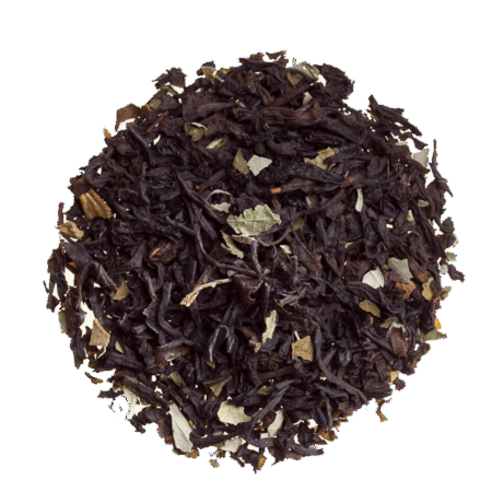 Chocolate Mint - Flavored Loose Leaf Black Tea sold by the ounce