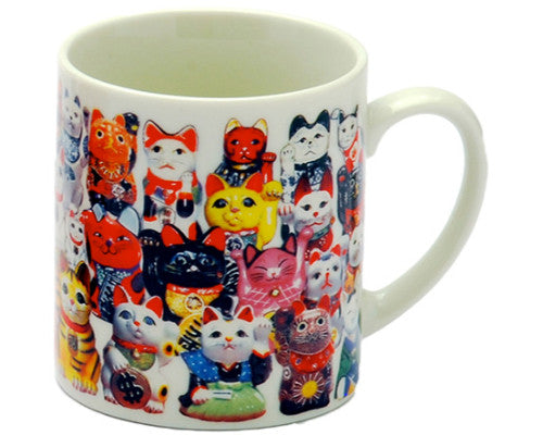 Good Luck Cats  - Japanese Mug