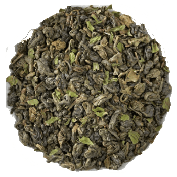 Moroccan Mint Organic Loose Leaf Green Tea and Herbal Tea Tisane sold by the ounce