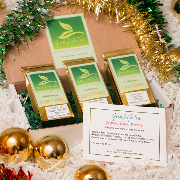 Organic World Traveler - Holiday tea gift set