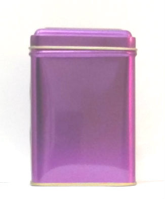 Hinged tea tin - Purple - Good Life Tea