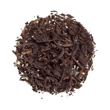 Organic Pu-erh black tea. Loose leaf tea sold by the ounce