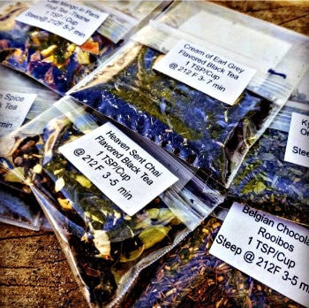 Six Samples of  Loose Tea for $7  - On Sale - Good Life Tea