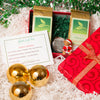 Tea Ball and 2 loose tea holiday gift box set