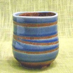 2 Blue Swirls Japanese Tea Cup