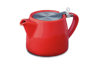 designer Teapot for Loose Tea. metal Infuser basket - assorted colors available