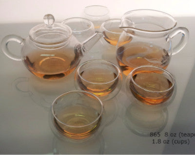 8 pc Gon Fu Glass Teaset (865) - Good Life Tea