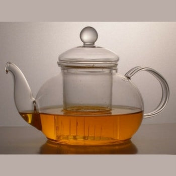 Classic Design 27 Ounce Glass Tea Pot - Good Life Tea