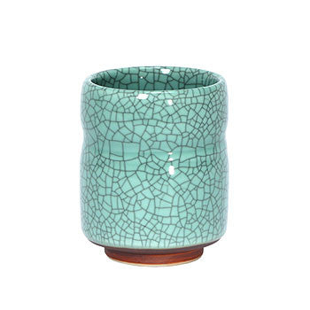 Crackle finish Japanese tea cup - Celedon - Good Life Tea