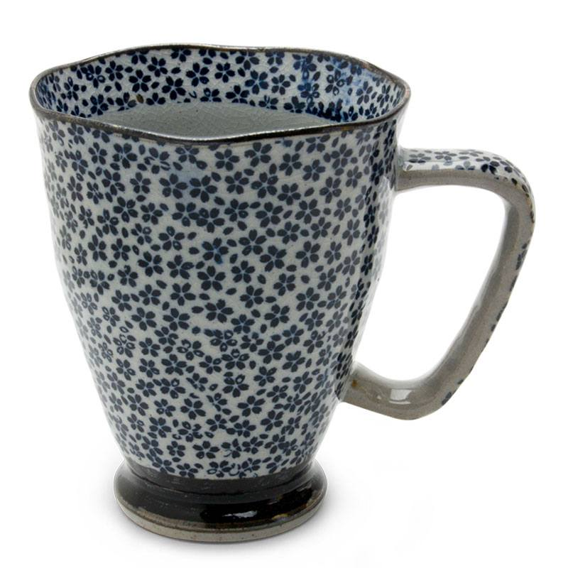 Tapered Mug with Small Blue Daisies - Kobana - Good Life Tea