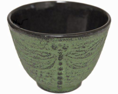 Japanese cast iron tea cup - dragonfly