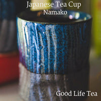 Gray and gray double glazed traditional Japanese teacup for green tea