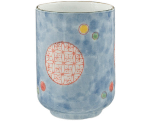 Round Orange Pattern on Blue - Good Life Tea