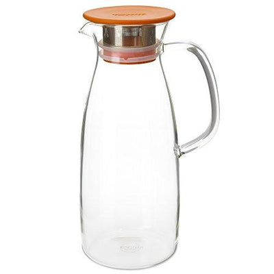 50 Ounce Glass Iced Tea Brewer - Hot or Cold Steeping