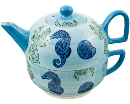 Seahorse Cup and Teapot set