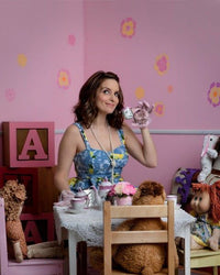Tina Fey drinking tea.
