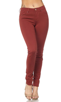 Classic Stretch Knit Skinny Pants in Rust (S-3XL) - SohoGirl.com