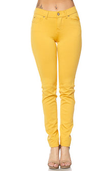 Classic Stretch Knit Skinny Pants in Yellow (S-3XL)