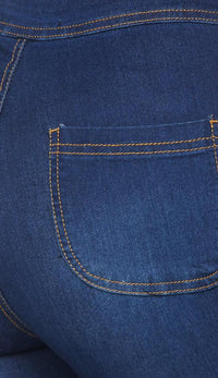 Super High Waisted Stretchy Skinny Jeans in True Blue (Plus Sizes Available) - SohoGirl.com