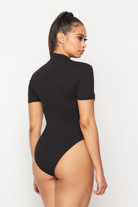 Short Sleeve Zip Up Bodysuit