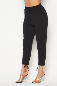 Classic Tie-Up Jogger Pants - Black