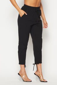 Classic Tie-Up Jogger Pants - Black - SohoGirl.com
