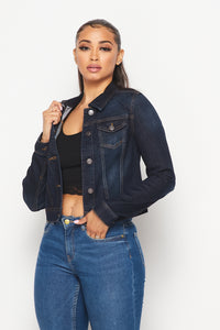 Classic Denim Jacket - Dark Denim - SohoGirl.com