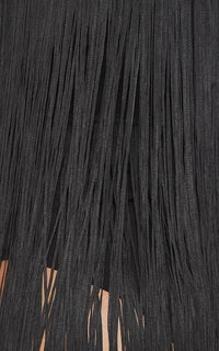 Fringe V-Neck Mini Dress - Black - SohoGirl.com