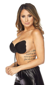 Black Backless Invisible Push-up Bra - SohoGirl.com