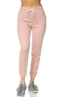 Lightweight Drawstring Jogger Pants in Blush (Plus Sizes Available) - SohoGirl.com
