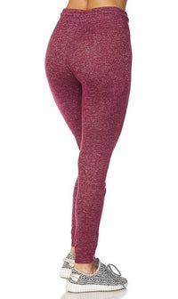Lightweight Drawstring Jogger Pants in Burgundy