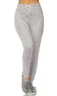 Lightweight Drawstring Jogger Pants in Gray (Plus Sizes Available)