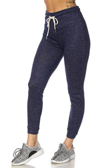 Lightweight Drawstring Jogger Pants in Navy Blue (Plus Sizes Available) - SohoGirl.com