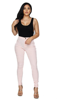 Blush Super High Waisted Stretchy Skinny Jeans