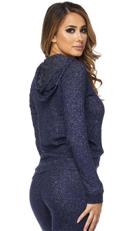 Lightweight Hoodie in Navy Blue - SohoGirl.com