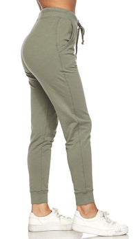 Classic Drawstring Jogger Pants in Sage