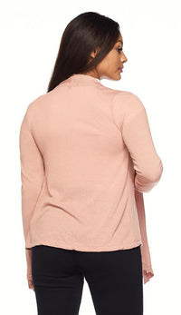 Draped Sweater Cardigan in Blush - SohoGirl.com