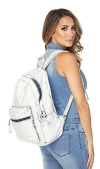 Vintage Denim Washed Backpack - SohoGirl.com