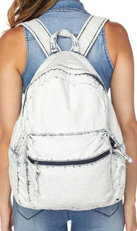 Vintage Denim Washed Backpack