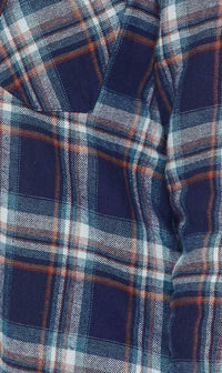 Faux Fur Lined Plaid Flannel in Blue - SohoGirl.com
