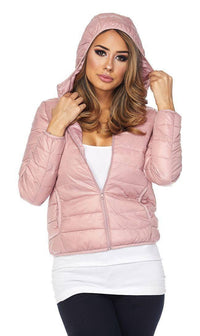 Hooded Winter Bubble Jacket in Pink - SohoGirl.com