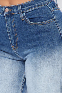 Ombre High Waisted Boyfriend Jeans - Blue - SohoGirl.com