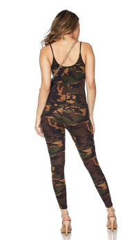 Woodland Camouflage Tank Top Unitard