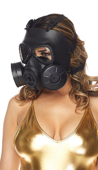 Steampunk Gas Mask - Black - SohoGirl.com