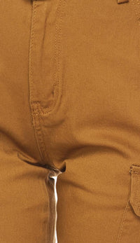 Belted Cargo Jogger Pants in Khaki (Plus Sizes Available) - SohoGirl.com