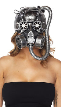 Steampunk Pirate Gas Mask - Silver