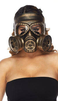 Steampunk Gas Mask - Gold - SohoGirl.com